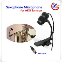 Wired musical instruments professional - Professional Clip on Musical Capacitance Microphone for Wind Instrument Saxophone Samson Wireless Transmitter Omnidirectional Mic