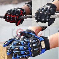 Wholesale Cool Spring Autumn Pro biker Motorcycle ATV Racing Armored Gloves Full L XL order lt no track