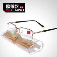 Wholesale 2015 The new high definition green film half frame reading glasses fashion reading glasses metal hanging wire resin prevent eyestrain b001