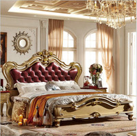 Wholesale Fashion European French Carved bed furniture m bed fashion