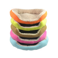 Wholesale Soft Puppy Cat Dog Bed Pet Nest Winter Warm Plush Dog Sleep Bed Luxury Kennel House Size S M L