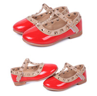 Summer ballerina flats girls - New Girls Princess Summer Rivet Flats Sandals Casual Children Round Toe Ballet Ballerina Designer Kids Dance Shoes