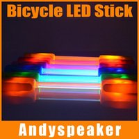 Wholesale 10pcs up Superflare LED Fiber Safety Warning Stick Degree Luminous Bicycle Decorative Light Bike Flare light M Visibility