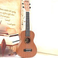 Wholesale Professional inch Acoustic Soprano Ukulele Guitar Music Instrument Wood Toy Guitar Sapele Hawaii Four Strings Guitar
