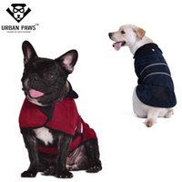 urban clothing - URBAN PAWS Reflecctive Stripe Dog Clothes Designer Colors Fleece Lining Dog clothing with Winter Dog Jackets Vest Pet Products