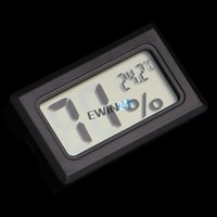 Wholesale 5PCS Pocket Embedded Digital LCD Hygrometer Mini Wireless Thermometer Temp Humidity Weather Meter Popular Sold By EWIN24