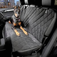 Wholesale 1 pet dog cat car rear back seat carrier cover pet dog mat blanket cover mat hammock cushion protector dog accessories