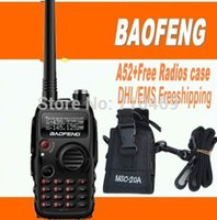 police scanner - DHLFreeshipping Baofeng A52 A two way radio Dual Band FM Transciever Scanner and FM Radio for police equipment radio case