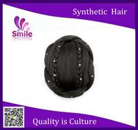 hair bun piece - J76 Synthetic Blonde Domechignon Twist Hair Bun Extension Hairpiece Hair Buns Braid Hair Pieces Bun