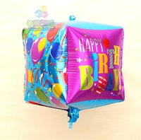 balloon shower - happy birthday Squares Balloons cube helium ballon Birthday baby shower supplies party decoration air baloon
