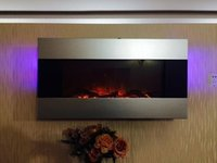 Wholesale LED With Article backlight logs MDF joint wall mounted electric fireplace