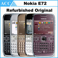 Wholesale Refurbished Original NOKIA E72 Mobile Phone inch G Wifi MP Unlocked Renew Cellphone English Arabic Keyboard