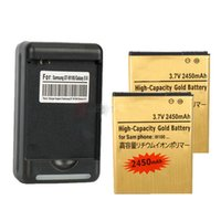 Wholesale 2 mAh Mobile Phone high capacity golden Replacement Battery Charger For Samsung Galaxy S II S2 i9100