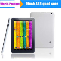 Wholesale 9inch Quad Core Tablet pc Allwinner A33 Q913 Dual camera with Bluetooth Google Android KitKat Tablet PC MB GB WIFI GHz