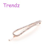 american headdress - Crystal Design Charms Hair Accessories Elegant Women Gold Hair Clip Hairpin Headdress Stainless Steel Barrettes Clips FJ2019