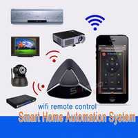 Wholesale EU Standard Smart home WIFI IR RF Intelligent Remote switch iPhone Android smart phone wireless remote control outside