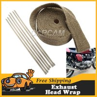 Cheap 15M Exhaust Heat Wrap Manifold Thermal Car Truck RV Boat Motorcycle Fiberglass Wrap Titanium