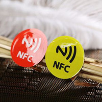 Wholesale 6pcs SET PET NFC Tag Stickers Adhesive RFID Tags Label DIfferent Colors Alarm Clock Control All Phones Compatible