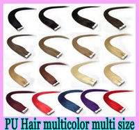 Wholesale Tape hair extensions inch Brazilian malaysian indian remy human hair Weave PU Skin Weft Tape Hair set