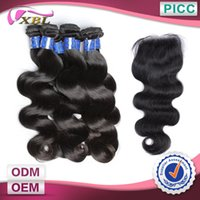 vendors - Peruvian Hair Vendors Remy Hair Weft And Lace Closure Pieces A Length To Inch Natural Color Body Wave