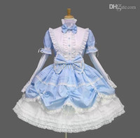 Wholesale Gothic Lolita dress pink princess dress cosplay for women black blue high quality