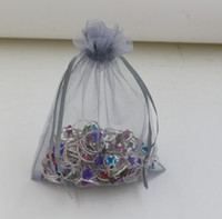 Jewelry Pouches,Bags halloween bag - Hot Sales Silver Gray With Drawstring Organza Gift Bags x9cm x11cm x18cm b0015