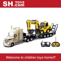 sh - SH TOYS new R C CH plastic RC trailer truck with rc construction truck with lights and sounds SH0233B