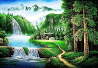 beautiful wall hangings - small size tapestry wall hangings art fabric picture beautiful landscape picture for ornament