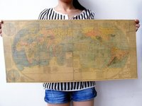 ancient china maps - The ancient map in china Classic Vintage Paper Wall Posters Decoration map of the world