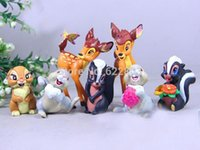 bambi movie - 50set free DHL brinquedos set Lovely Toys Bambi Flower Thumper Complete Set Action Figures Classic toys