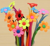 Wholesale 12pcs Fashion Hot creative stationery Bloom Sweet Lucky Flora flowers Pen design Ballpoint pen Stationery
