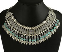 Wholesale Best Selling Vintage Alloy Statement Necklace Christmas Gift Exaggerated Coin Tassel Choker Necklaces