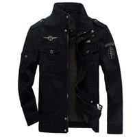 air free jackets - Brand men s slim stand collar jacket aeronautica military cost air army outerwear sports embroidery jackets