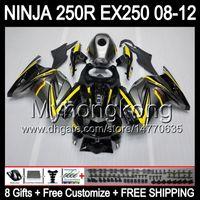 Wholesale 8Gifts For KAWASAKI NINJA ZX R EX250 MY25 ZX250R EX ZX R Fairings Black silver grey