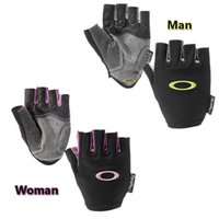 Wholesale Sport Gloves Half Finger Gloves Yellow And Purple Road Biking Glove Different Sizes Nylon And Sheepskin Fabric Solid Color