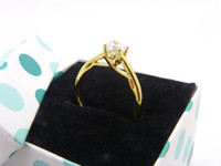 24k solid gold ring - womens classic k ct yellow gold filled solid solitaire prong setting rings jewelry best gift for women