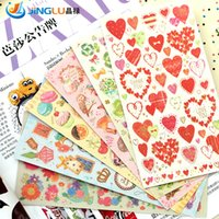 Wholesale Post It Stationery Bronzing Romantic Love Scrapbook D Scrapbooking Stickers Pegatinas Scrapbooking MW Pluie Douce