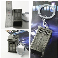 Wholesale 2015 Hot sale New Hot BBC Doctor Who TARDIS A telephone booth D silver Keychain Jewelry