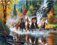 Wholesale 5D DIY Diamond Painting Running horse Cross Stitch Decoration Embroidery Home Decor DD004