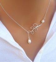 NUEVO! Collar de perlas de encanto al por mayor! China deja collares, joyería de la novia sale barato párrafo, la cadena de la clavícula de la moda / pendant.10pcs.XR