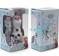 Wholesale 40pcs Frozen dolls olaf musical Piggy bank Saving Coin music box Unique toy kids Decorative gift Novelty