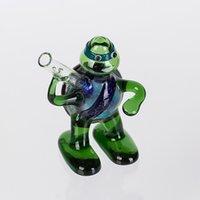 Wholesale 2015 New Design Ninja Turtles Glass Smoking Water Pipes Glass Bong GP402