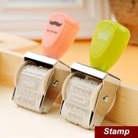 Wholesale 2 Crown Roller Stamp Vintage DIY stamp for Wedding Scrapbooking zakka carimbo deco material school supplies