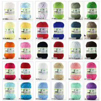 Cheap 10 Balls Wholesale Bamboo Yarn Cashmere Cotton Silk Baby Knitting Yarn Sweater Silk wool cashmere warm soft baby yarn Knitting