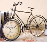bicycle desk - Fashion vintage clock desk clock fashion classical mute wrought iron decoration bicycle rustic