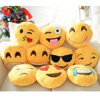 Wholesale Hot Sale QQ Emoji Pendant Keychain Cushion Pillow Dolls Kids Toys Home Decor Plush Toy Gifts for Children