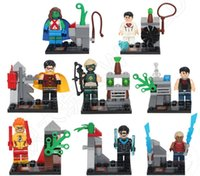 Wholesale 8pcs Super Heroe Young Justice Avengers building blocks NIGHTWING ROBIN MISS MARTIAN minifigure kids toys bricks SY250