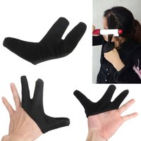 Wholesale Best Price PC High Quality Three fingers design Hair Strag Hairdressing Heat Resistant Finger Glove Black Straightening Curling