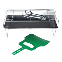 Wholesale Stainless Steel Barbecue Grills Mini Folding Outdoor Portable Camping Hiking BBQ Grill Grid Barbecue Cooking Set cm