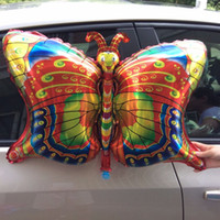air butterfly - New insect foil balloon butterfly happy birthday party balloons decorated air balloons globos children inflatable Classic Toys